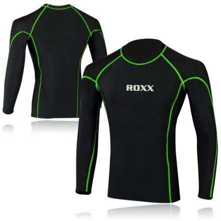 ROXX Men Compression Shirt | CZARNA -ŻÓŁTY