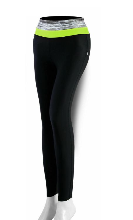 ROXX Ladies Compression Trousers   CZARNO-ŻÓŁTE - damskie długie  getry  termoaktywne
