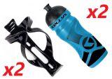 2x Set Kellys Sport 0,7 + Praxx Bottle Cage   BLUE
