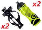 2x Set Kellys Sport 0,7 + Praxx Bottle Cage   YELLOW