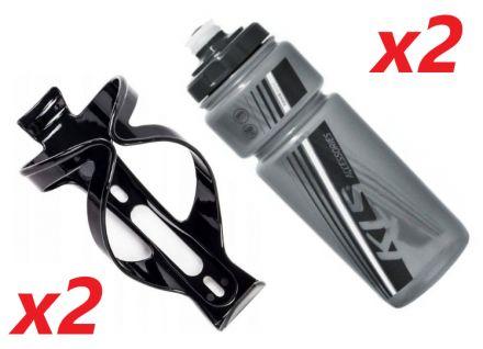 2x Set Kellys Namib 0,7 + Praxx Bottle Cage | BLACK