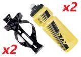 2x Set Kellys Namib 0,7 + Praxx Bottle Cage | YELLOW