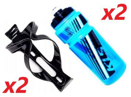 2x Set Kellys Namib 0,7 + Praxx Bottle Cage | BLUE