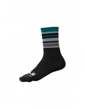 Alé Stripes Sock   BLACK/GREEN