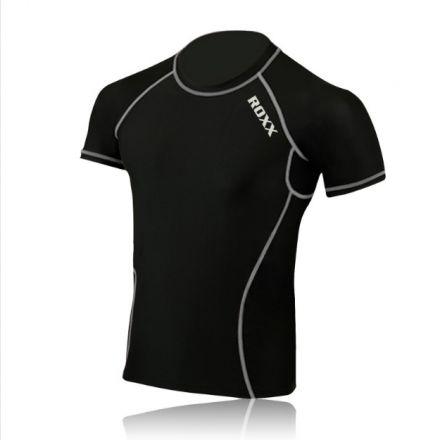 ROXX Men Half Sleeve Compression Shirt  | CZARNO- SZARE