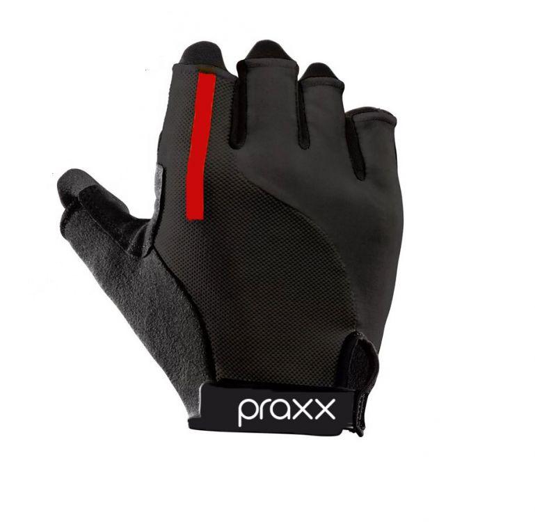 Praxx Men Cycling Gloves | CZARNO-CZERWONE