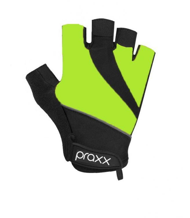 Praxx Men Cycling Gloves | CZARNO-FLUOR