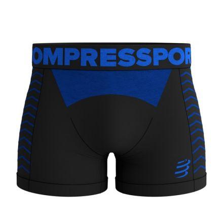 Compressport Seamless Boxer | BLACK/BLUE
