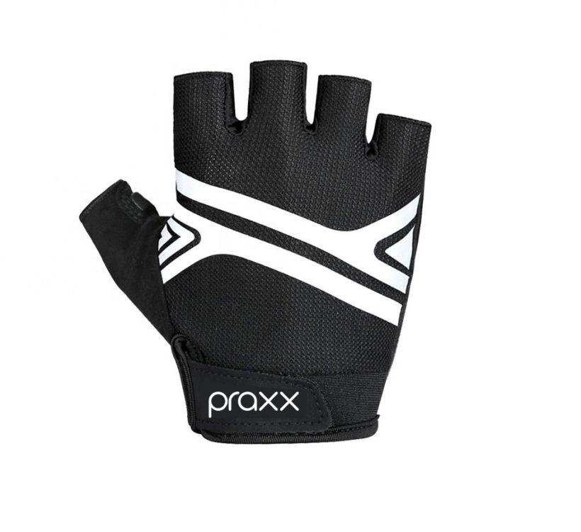 Praxx Men Cycling Gloves | CZARNO-BIAŁE
