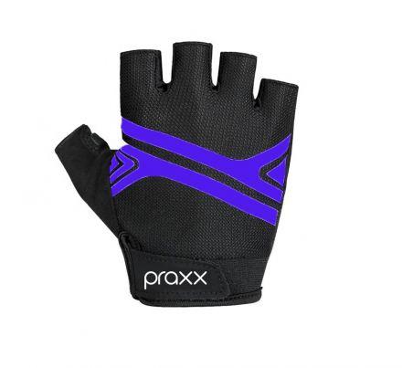 Praxx Men Cycling Gloves | CZARNO-NIEBIESKIE