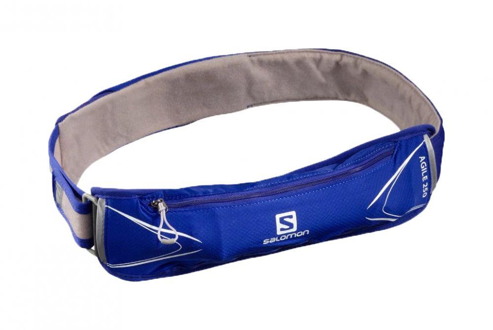 Salomon Agile 250 Belt Set   CLEMATIS BLUE - pas z miękkim bidonem 250ml C15207