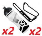 2x Set Kellys Sport 0,7 + Praxx Bottle Cage | WHITE