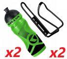 2x Set Kellys Sport 0,7 + Praxx Bottle Cage | GREEN