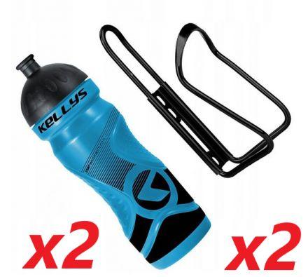 2x Set Kellys Sport 0,7 + Praxx Bottle Cage | BLUE