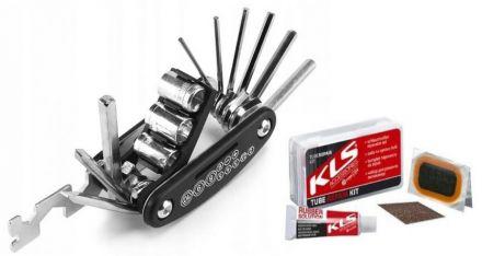 PRAXX Multi Tool 16 + Kellys Tube Repair Kit