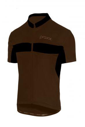 Praxx Thermoactive Cycling Jersey | BRĄZOWO-CZARNA