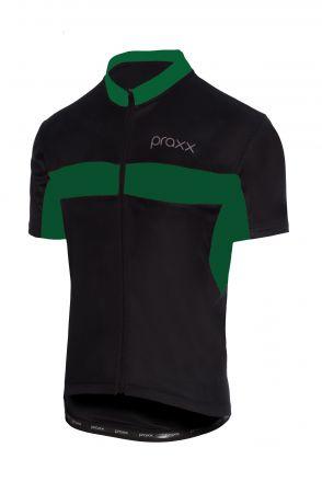 Praxx Thermoactive Cycling Jersey | CZARNO-ZIELONA