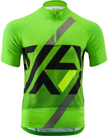 SILVINI Men's  MTB Cycling Jersey  | GREEN/BLACK