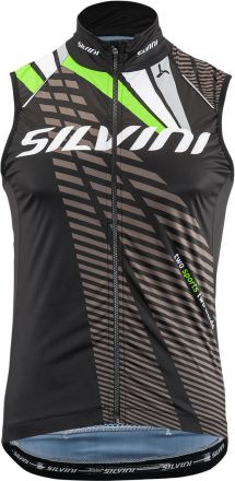 SILVINI men's cycling vest Team | BLACK/GREEN