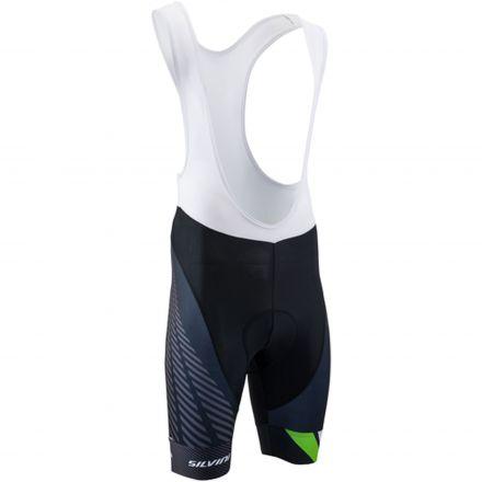 SILVINI men's cycling bib shorts Team Top | BLACK/GREEN