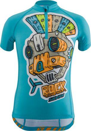 SILVINI kids cycling jersey Scrivia | SKY/ORANGE