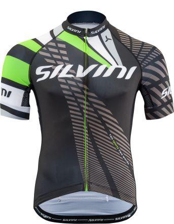 SILVINI Men's Cycling Jersey  | BLACK/GREEN