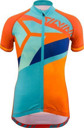 SILVINI Junior cycling Jersey Tanaro | ORANGE/SKY