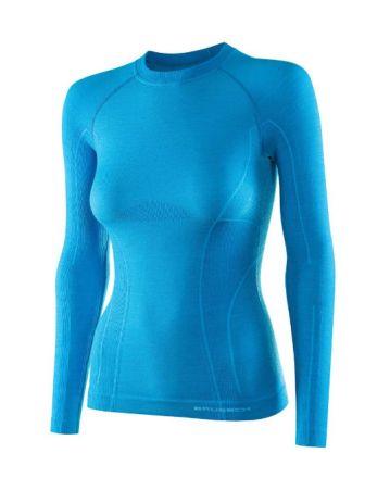 Brubeck Active Wool  Women's LS Top | LIGHT BLUE