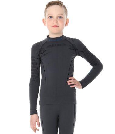 Brubeck Thermo Junior Men's Sweatshirt | CZARNA
