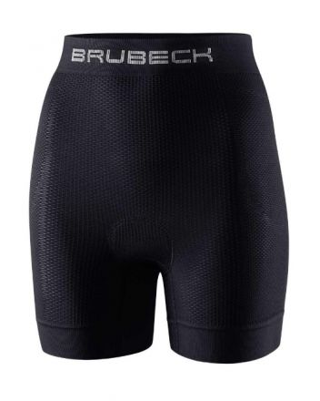 Brubeck Women's Boxe Short With Cycling Pad | BLACK