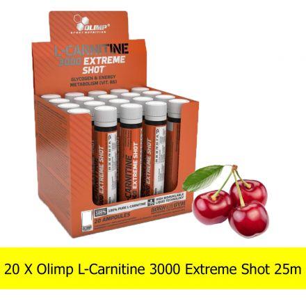 Olimp L-Carnitine 3000 Extreme Shot [20x25ml] |  WIŚNIA