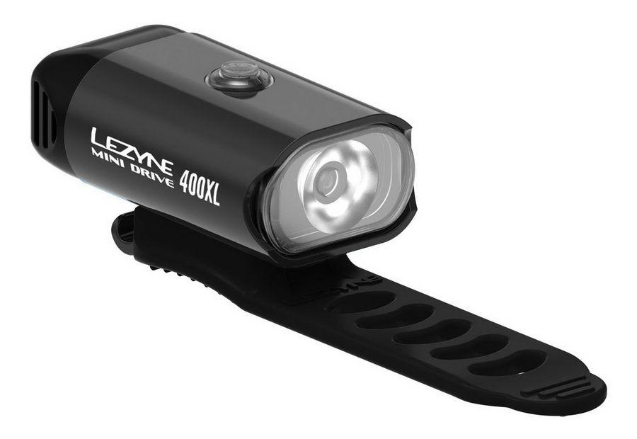 LEZYNE MINI DRIVE 400 400 lumenów, USB | CZARNA(NEW) - przednia lampka rowerowa LZN-1-LED-24F-V204