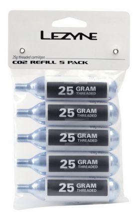 LEZYNE THREADED CO2 25g 5-PACK 5szt