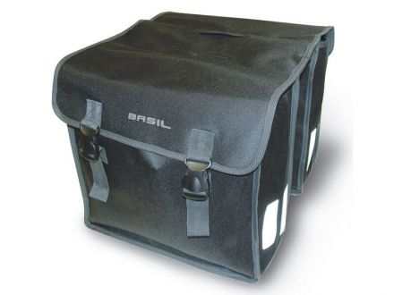 BASIL MARA XL 35L, mocowanie na paski, wodoodporny poliester, czarna