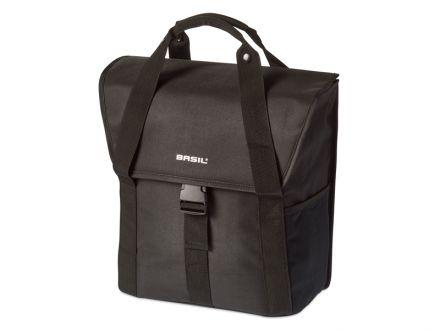 BASIL GO SINGLE BAG 16L, mocowanie na haki Hook-On System, czarna