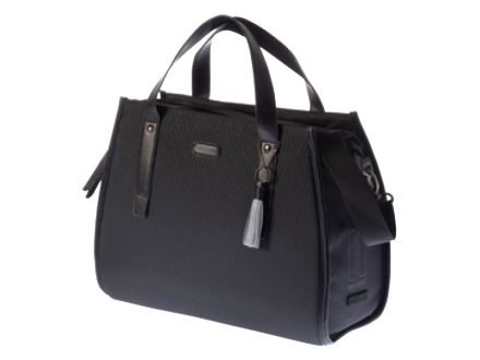 BASIL NOIR BUSINESS BAG 17L, mocowanie na haki, wodoodporny poliester, midnight black
