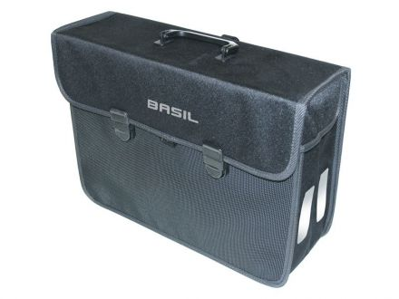 BASIL MALAGA XL 17L, mocowanie na haki Hook-On System, wodoodporny poliester, czarna