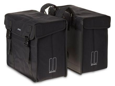BASIL KAVAN XL DOUBLE BAG 65L, mocowanie na paski, wodoodporny brezent, czarna