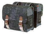 BASIL BOHEME DOUBLE BAG 35L, mocowanie na paski, wodoodporny poliester, charcoal