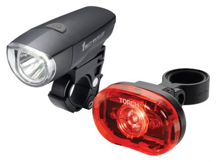 TORCH CYCLE LIGHT SET HIGH BEAMER COMPACT 1W + TAIL BRIGHT 0.5W