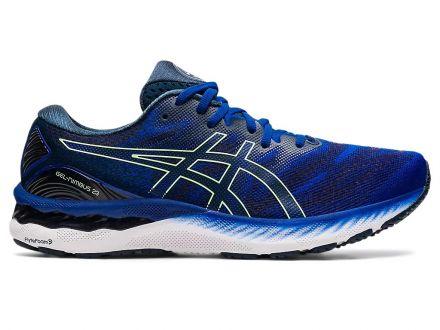 Asics Gel Nimbus 23 | MONACO BLUE / BRIGHT LIME - męskie buty do biegania 1011B004_404
