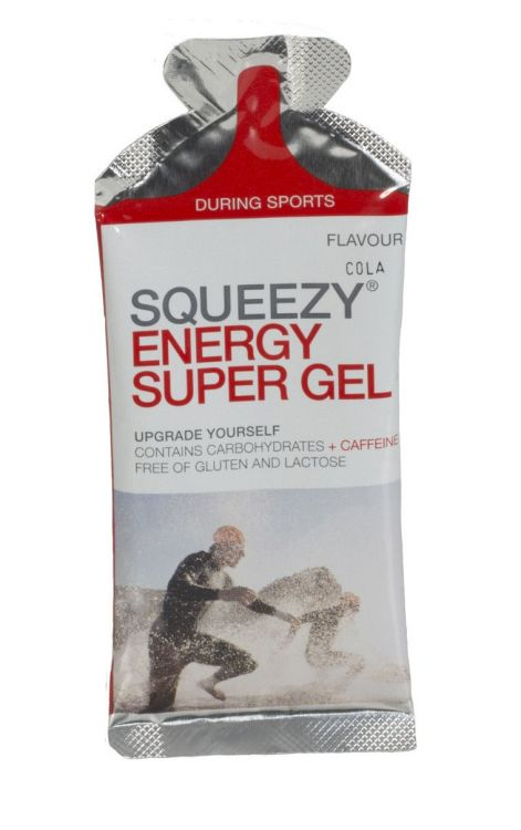 SQUEEZY Energy Super Gel z koffeiną 12 x 33g.