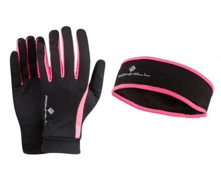 Ronhill VIZION HEADBAND & GLOVE SET
