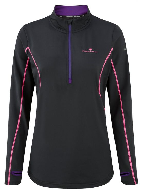 Ronhill Wmns Base Thermal 300 1/2 Zip Tee