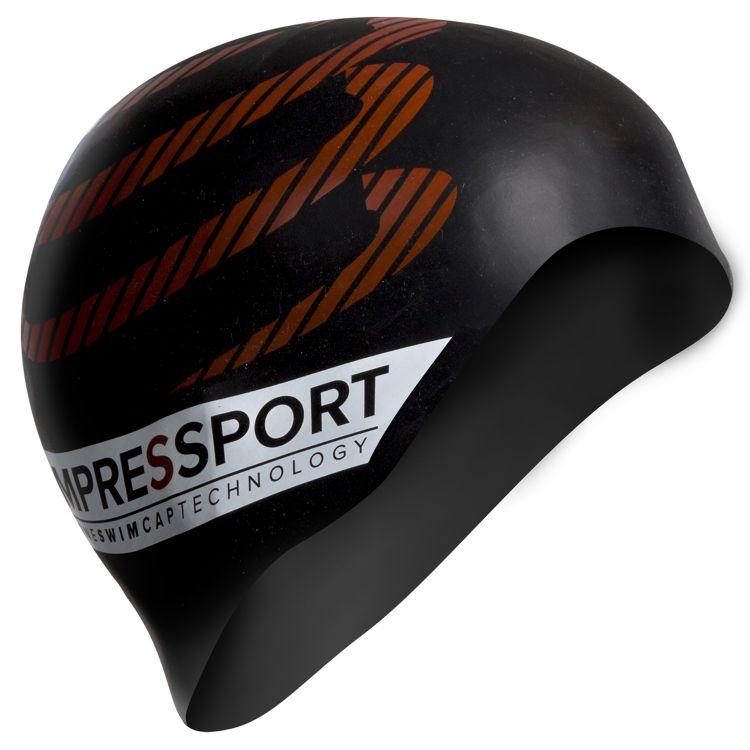 Compressport Silicone Swimcap   CZARNY - Compressport Silicone Swim Cap