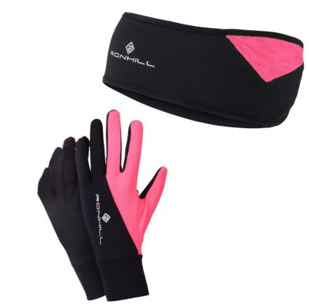 Ronhill Vizion Headband & Glove Set - zestaw rękawiczki plus czapka