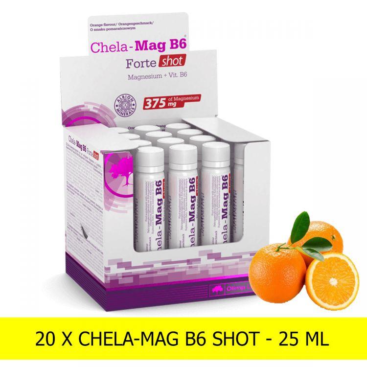 Olimp Chela-Mag B6 Forte Shot 20X25ml - [pomarańczowy]