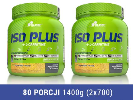 Olimp Iso Plus 1400g (2x700g) [pomarańcz]