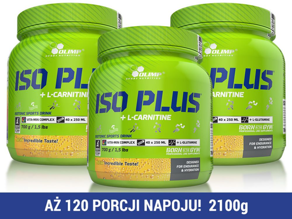 Olimp Iso Plus 2100g (3 x 700g) [tropik]